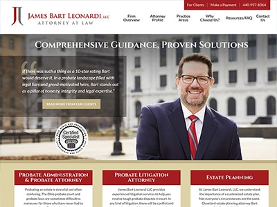 Website Design for James Bart Leonardi, LLC