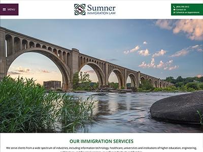 Law Firm Website design for Sumner Immigration Law, P…