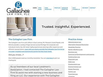 Law Firm Website design for The Gallagher Law Firm, P…