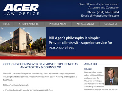 Law Firm Website design for Ager Law Office PC