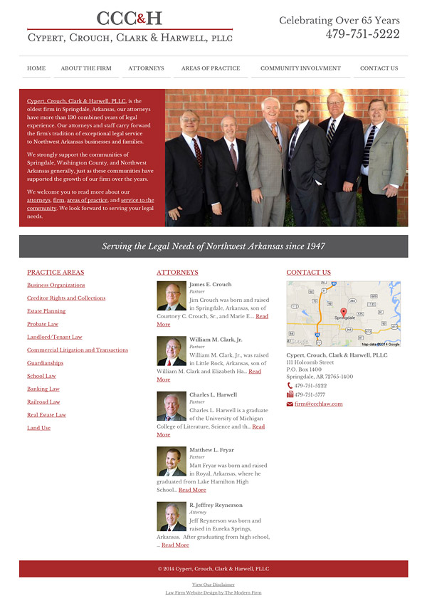 Law Firm Website Design for Cypert, Crouch, Clark & Harwell, PLLC