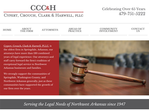 Mobile Friendly Law Firm Webiste for Cypert, Crouch, Clark & Harwell, PLLC
