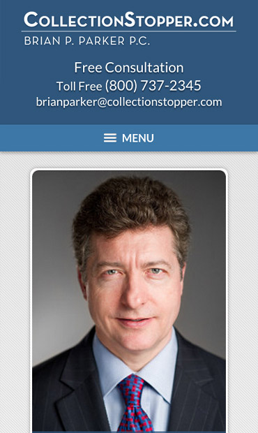 Responsive Mobile Attorney Website for Brian P. Parker, PC