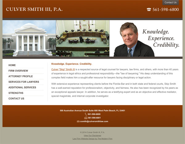 Law Firm Website Design for Culver Smith, III, P.A.