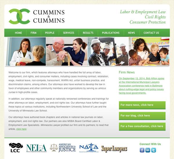 Mobile Friendly Law Firm Webiste for Cummins & Cummins, LLP