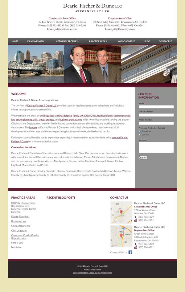 Law Firm Website Design for Dearie, Fischer & Dame LLC
