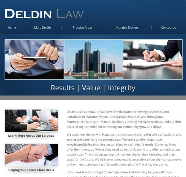 Mobile Friendly Law Firm Webiste for Deldin Law