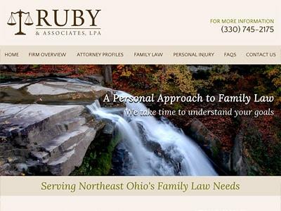 Law Firm Website design for Ruby & Associates, LPA