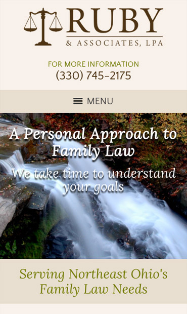 Responsive Mobile Attorney Website for Ruby & Associates, LPA