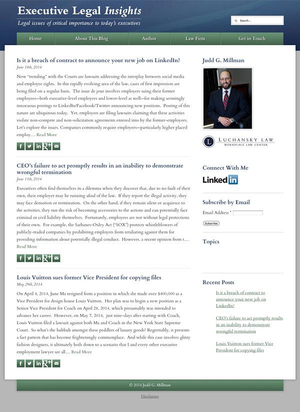 Law Firm Website Design for Judd G. Millman