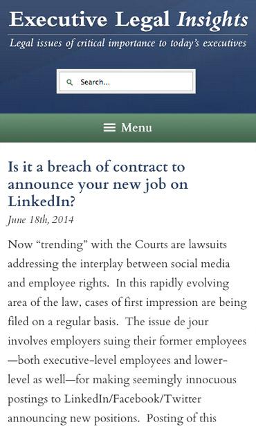 Responsive Mobile Attorney Website for Judd G. Millman