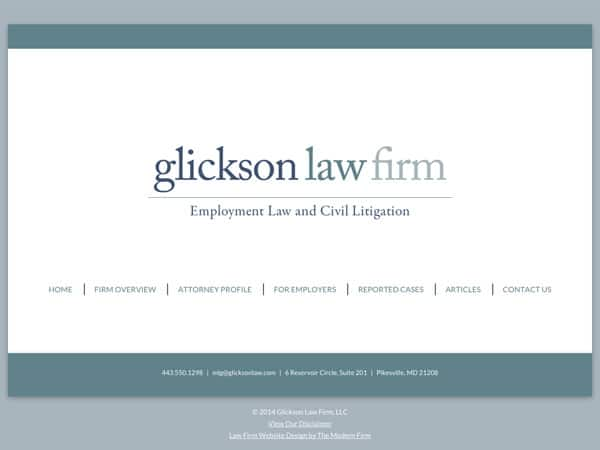 Law Firm Website for Glickson Law Firm, LLC