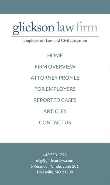 Responsive Mobile Attorney Website for Glickson Law Firm, LLC