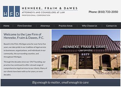 Law Firm Website design for Henneke, Fraim & Dawes, P…