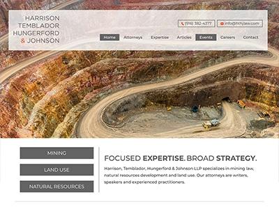 Law Firm Website design for Harrison, Temblador, Hung…