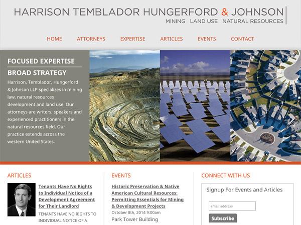 Mobile Friendly Law Firm Webiste for Harrison, Temblador, Hungerford & Johnson LLP