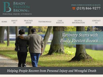 Law Firm Website design for Brady Preston Brown, PC