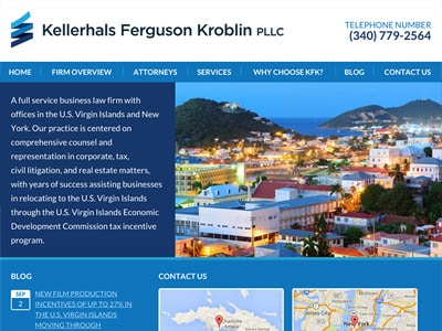 Law Firm Website design for Kellerhals Ferguson Krobl…