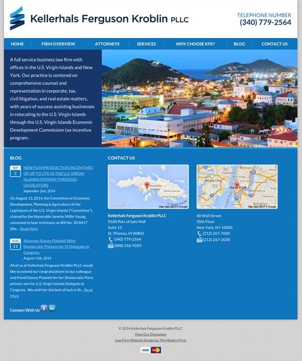 Law Firm Website Design for Kellerhals Ferguson Kroblin PLLC