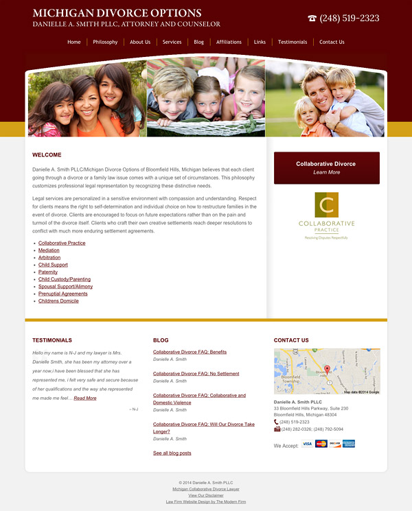 Law Firm Website Design for Danielle A. Smith PLLC