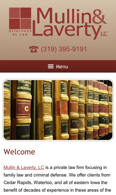 Responsive Mobile Attorney Website for Mullin & Laverty, LC