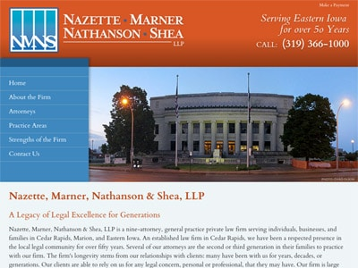 Law Firm Website design for Nazette, Marner, Nathanso…