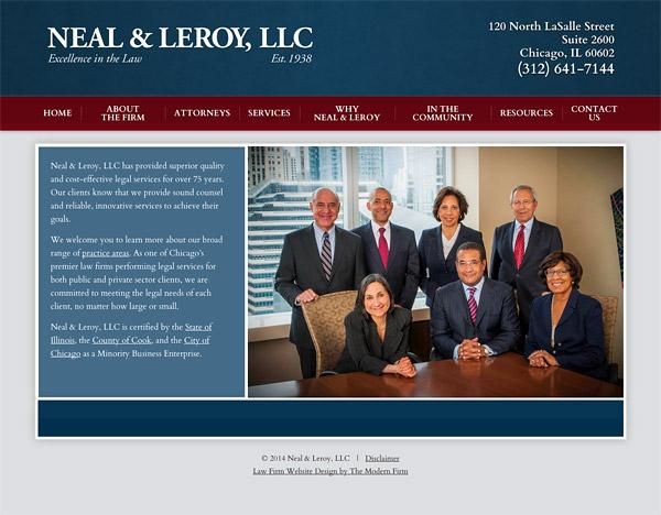 Law Firm Website Design for Neal & Leroy, LLC