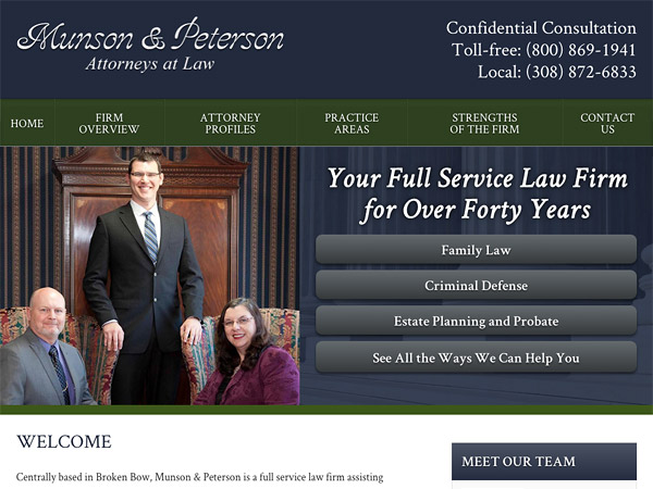 Mobile Friendly Law Firm Webiste for Munson & Peterson