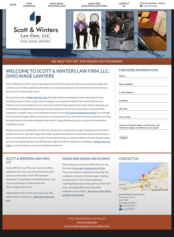Law Firm Website Design for Scott & Winters Law Firm, LLC