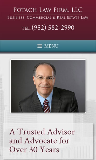 Responsive Mobile Attorney Website for Potach Law Firm, LLC