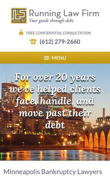 Responsive Mobile Attorney Website for Running Law Firm