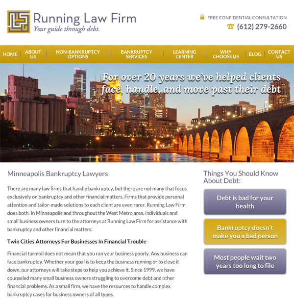 Mobile Friendly Law Firm Webiste for Running Law Firm