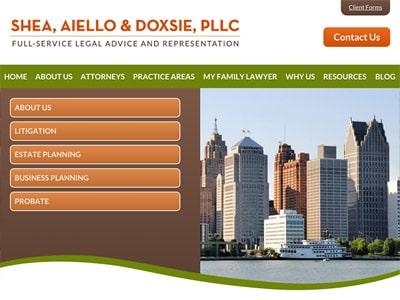 Law Firm Website design for Shea, Aiello & Doxsie, PL…