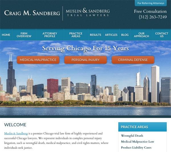 Mobile Friendly Law Firm Webiste for Craig M. Sandberg - Muslin & Sandberg