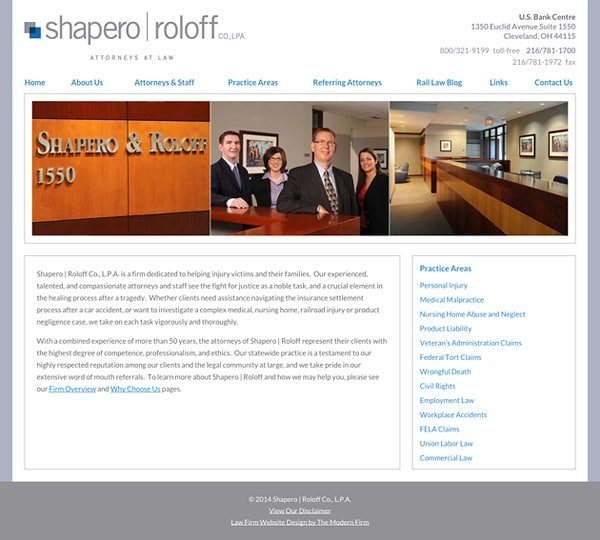 Law Firm Website Design for Shapero | Roloff Co., L.P.A.