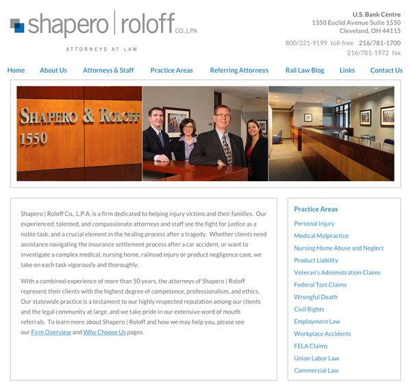 Mobile Friendly Law Firm Webiste for Shapero | Roloff Co., L.P.A.