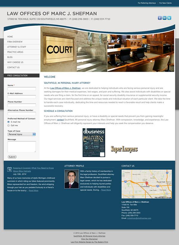 Law Firm Website Design for Law Offices of Marc J. Shefman