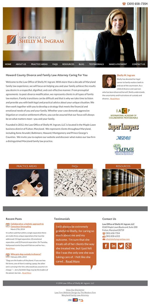 Law Firm Website Design for Law Office of Shelly M. Ingram, LLC