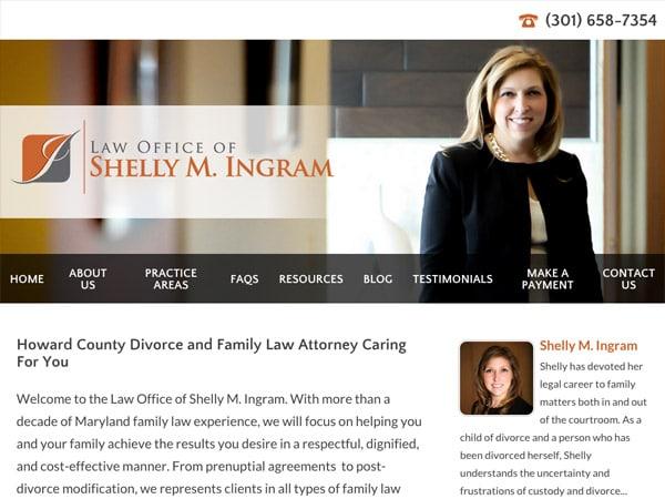 Mobile Friendly Law Firm Webiste for Law Office of Shelly M. Ingram, LLC