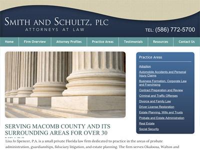 Law Firm Website design for Smith & Schultz, PLC