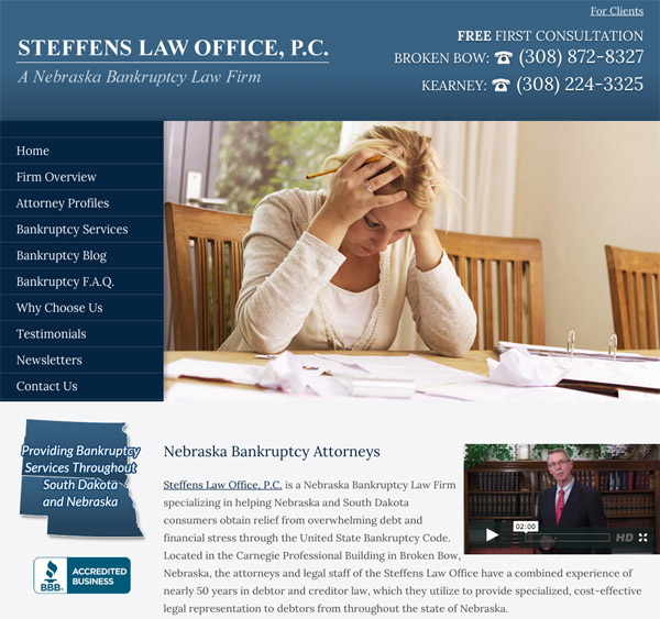 Mobile Friendly Law Firm Webiste for Steffens Law Office, P.C.