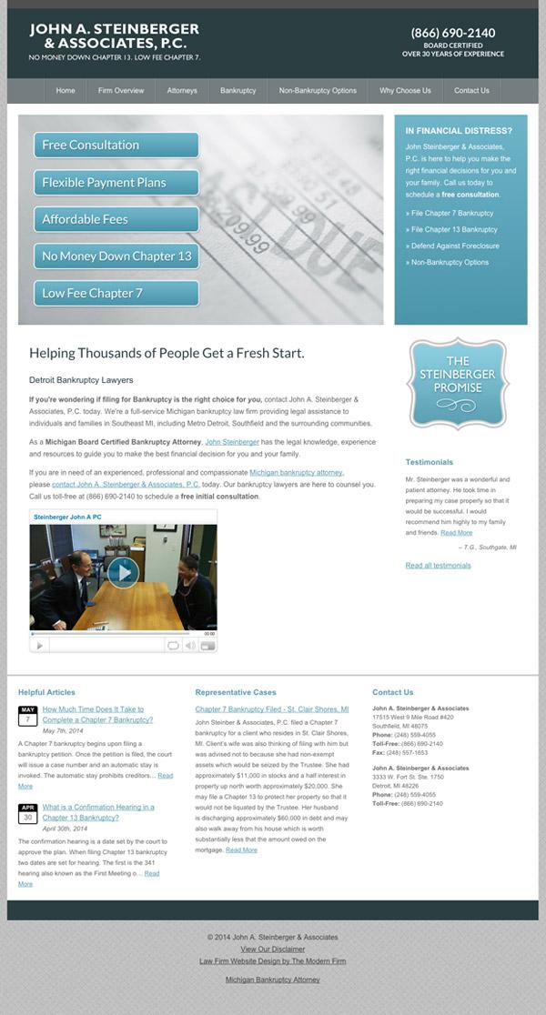 Law Firm Website Design for John A. Steinberger & Associates