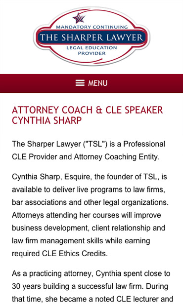 Responsive Mobile Attorney Website for The Sharper Lawyer