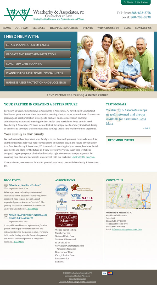 Law Firm Website Design for Weatherby & Associates, PC