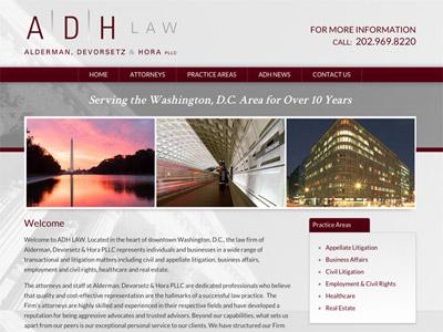 Law Firm Website design for Alderman, Devorsetz & Hor…