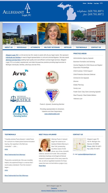 Law Firm Website Design for Allegiant Legal, PC