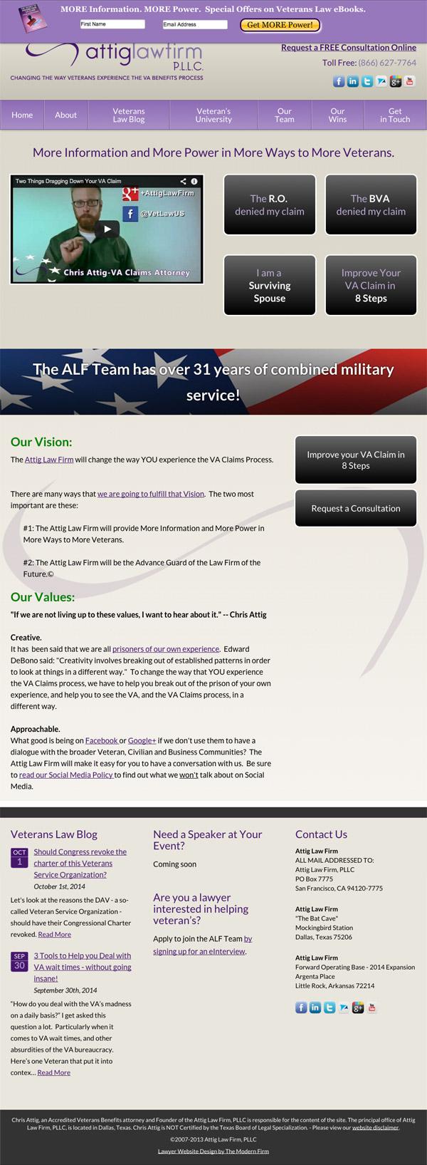 Law Firm Website Design for Attig Law Firm