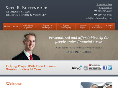 Law Firm Website design for Seth R. Buitendorp, Attor…
