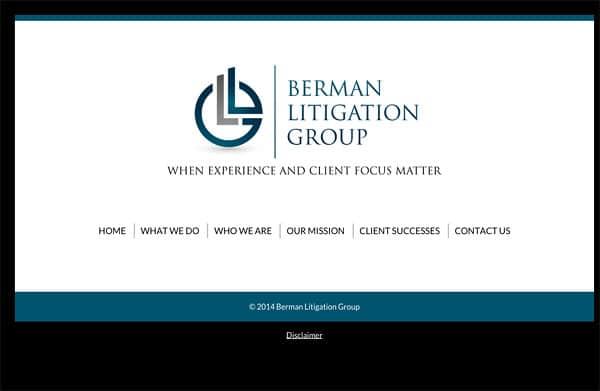 Law Firm Website Design for Berman Litigation Group