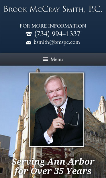 Responsive Mobile Attorney Website for Brook McCray Smith, P.C.
